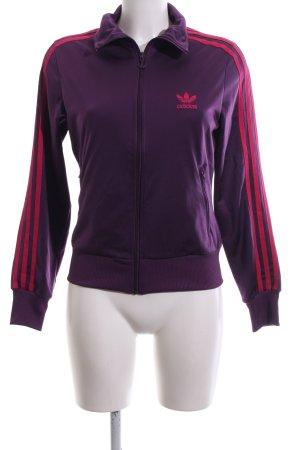 Adidas Sportjacke lila-pink Casual-Look