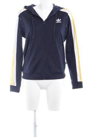 Adidas Sportjacke dunkelblau-dunkelgelb sportlicher Stil