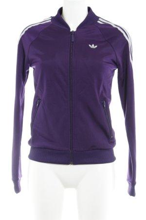 Adidas Sportjacke dunkelviolett sportlicher Stil