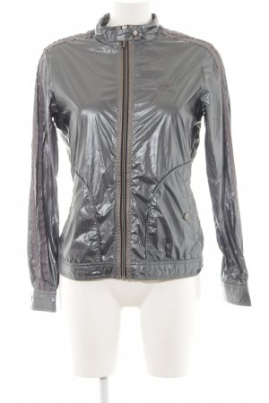 Adidas Sports Jacket silver-colored wet-look