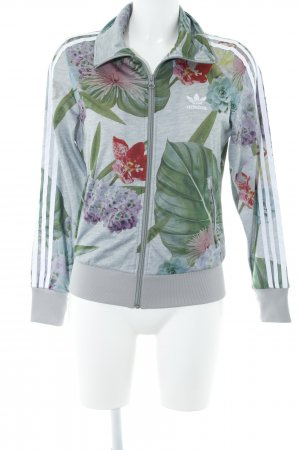 Adidas Sportjacke florales Muster Casual-Look