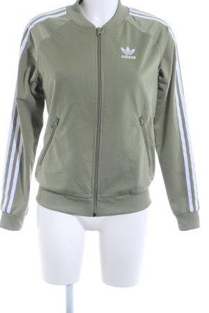 Adidas Veste de sport gris vert style décontracté