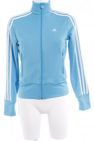 Adidas Sportjack lichtblauw casual uitstraling