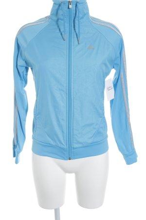 Adidas Sportjacke hellblau-silberfarben sportlicher Stil