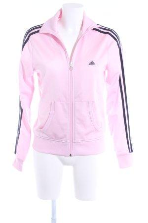 Adidas Sportjacke hellrosa-schwarz sportlicher Stil