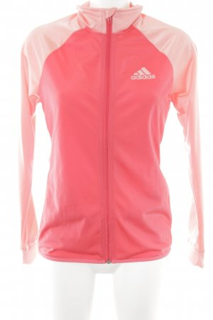 Adidas Sports Jacket bright red-salmon color blocking athletic style