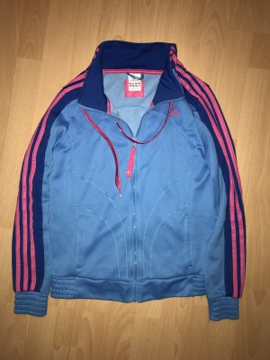 Adidas Sportjacke in blau mit pink