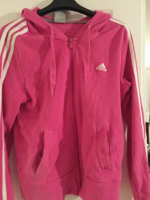 Adidas sportjacke in pink mit Kapuze
