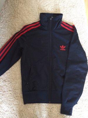Adidas Sportjacke in rot/blau