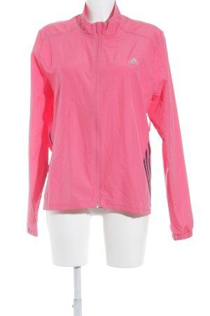 Adidas Sportjacke magenta-schwarz schlichter Stil