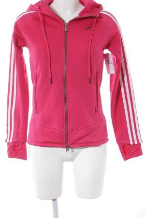 Adidas Sportjacke magenta-weiß schlichter Stil