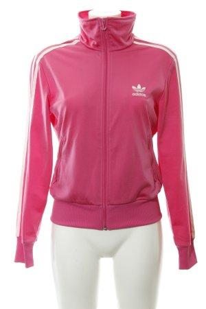 Adidas Giacca sport magenta-bianco stile atletico