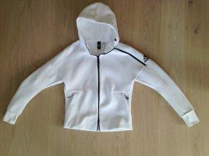 Adidas Sportjacke mit Kapuze weiß