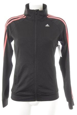 Adidas Veste de sport rose fluo-noir style décontracté