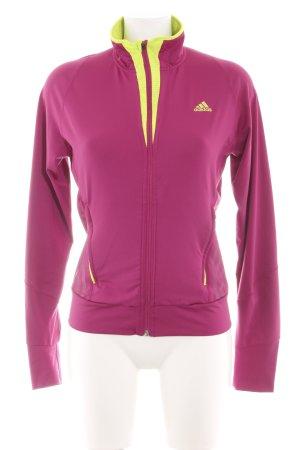 Adidas Sportjacke pink-blassgelb sportlicher Stil