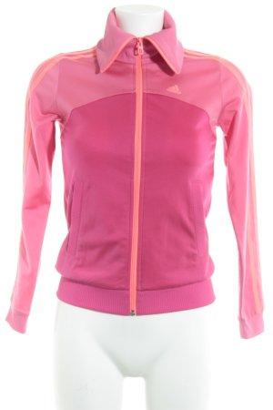 Adidas Sportjacke pink-magenta sportlicher Stil