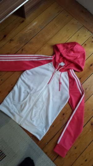 Adidas Sportjacke pink/weiß