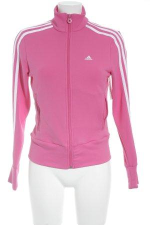 Adidas Sportjacke pink-weiß sportlicher Stil