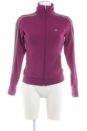 Adidas Sports Jacket purple-grey athletic style
