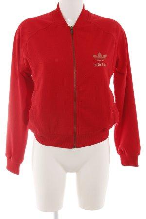 Adidas Sportjacke rot sportlicher Stil