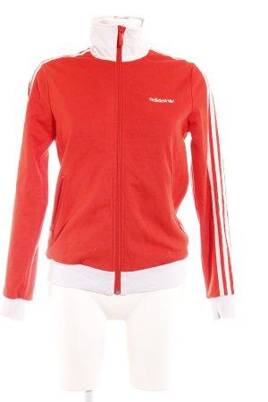 Adidas Sportjacke rot-weiß Casual-Look