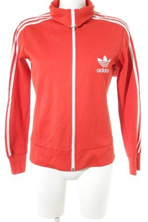Adidas Sportjacke rot-weiß sportlicher Stil