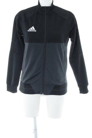 Adidas Sportjacke schwarz-anthrazit sportlicher Stil