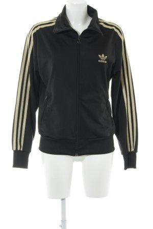 Adidas Sportjack zwart-goud atletische stijl
