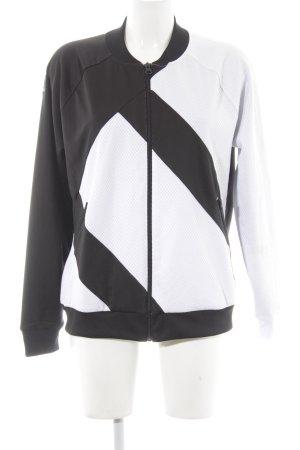 Adidas Sportjacke schwarz-weiß Casual-Look
