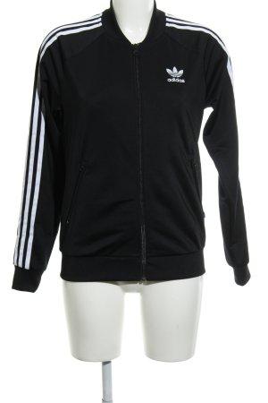 Adidas Giacca sport nero-bianco stile atletico
