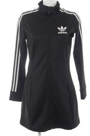 Adidas Sportjacke schwarz-weiß sportlicher Stil