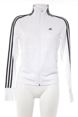 Adidas Sportjack zwart-wit gestreept patroon atletische stijl