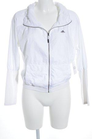 Adidas Veste de sport noir-blanc cassé lettrage imprimé style athlétique