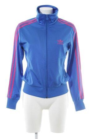 Adidas Sportjacke stahlblau-magenta Casual-Look