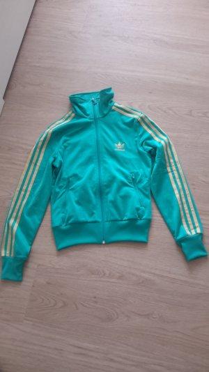 Adidas Sportjacke türkis-gold