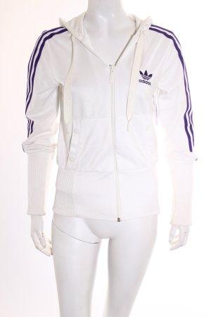 Adidas Sportjacke weiß-lila klassischer Stil