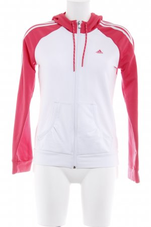 Adidas Sports Jacket white-magenta casual look