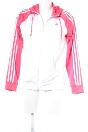 Adidas Sportjack wit-magenta Webpatroon casual uitstraling