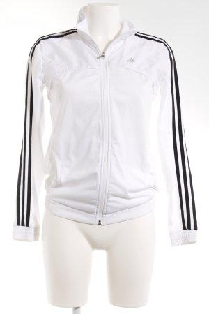 Adidas Veste de sport blanc-noir style athlétique