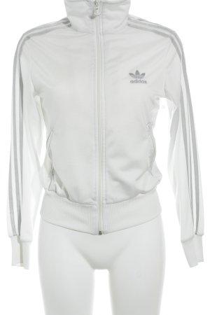 Adidas Veste de sport blanc-argenté style simple