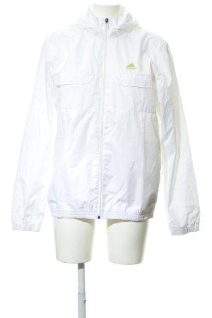 Adidas Sportjacke weiß sportlicher Stil