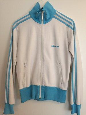 Adidas Sportjack wit-lichtblauw