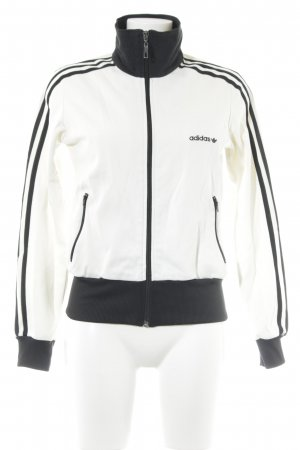 Adidas Sports Jacket natural white-black athletic style