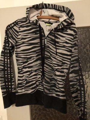 Adidas Chaqueta con capucha negro-blanco puro