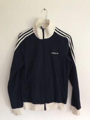 Adidas Chaqueta deportiva blanco puro-azul oscuro