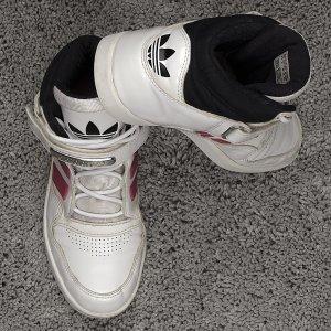 Adidas Sneakers met veters wit-donkerrood