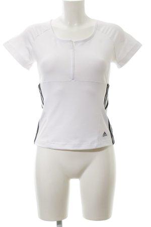 Adidas Sportshirt wit-zwart casual uitstraling