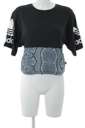 Adidas Sportshirt abstraktes Muster sportlicher Stil