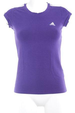 Adidas Sportshirt dunkelviolett sportlicher Stil
