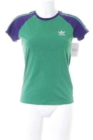 Adidas Sportshirt grün-lila sportlicher Stil